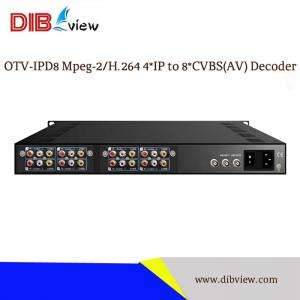 OTV-IPD8 Mpeg-2/H.264 4IP to 8 CVBS(AV) SD 8 in 1 Decoder