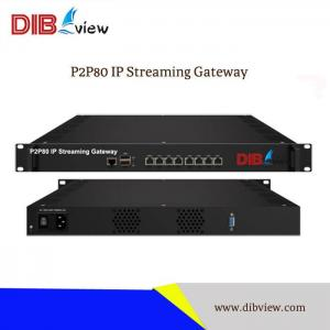 P2P80 80 SD/HD ip protocol conversion ip streaming HLS/HTTP/RTMP/RTSP/UDP gateway