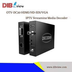 OTV-DC20 H.264 HDMI/HD-SDI/VGA IPTV Streaming Media Decoder