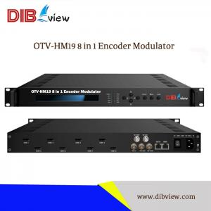 OTV-HM19 8 in 1 HDMI Input MPEG4 H264 Encoder Modulator With DVBT DVBC ISDB-T for DTV Broadcast System
