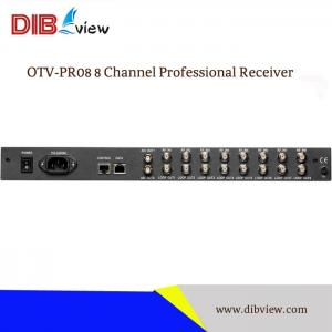 OTV-PR08 IPTV Broadcasting System 8 channels FTA Tuner Receiver to IP Converter
