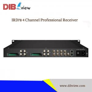 IRD78 4 Channel Professional Receiver With 48 SPTS or 4 MPTS over IP Output For Encryption Channels