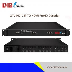 OTV-HD12 DTV Head-end Processor IP TO HDMI ProHD Decoder With 12 HDMI Output
