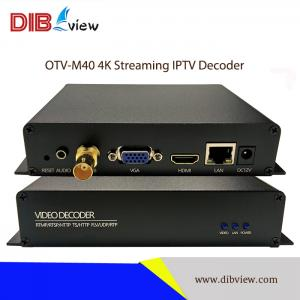 OTV-M40 ProHD UHD Streaming 4K H.265 Video IPTV Decoder