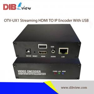 OTV-UX1 H.264 H.265 IPTV Streaming Video Media Encoder With USB to collect Video from USB Camera