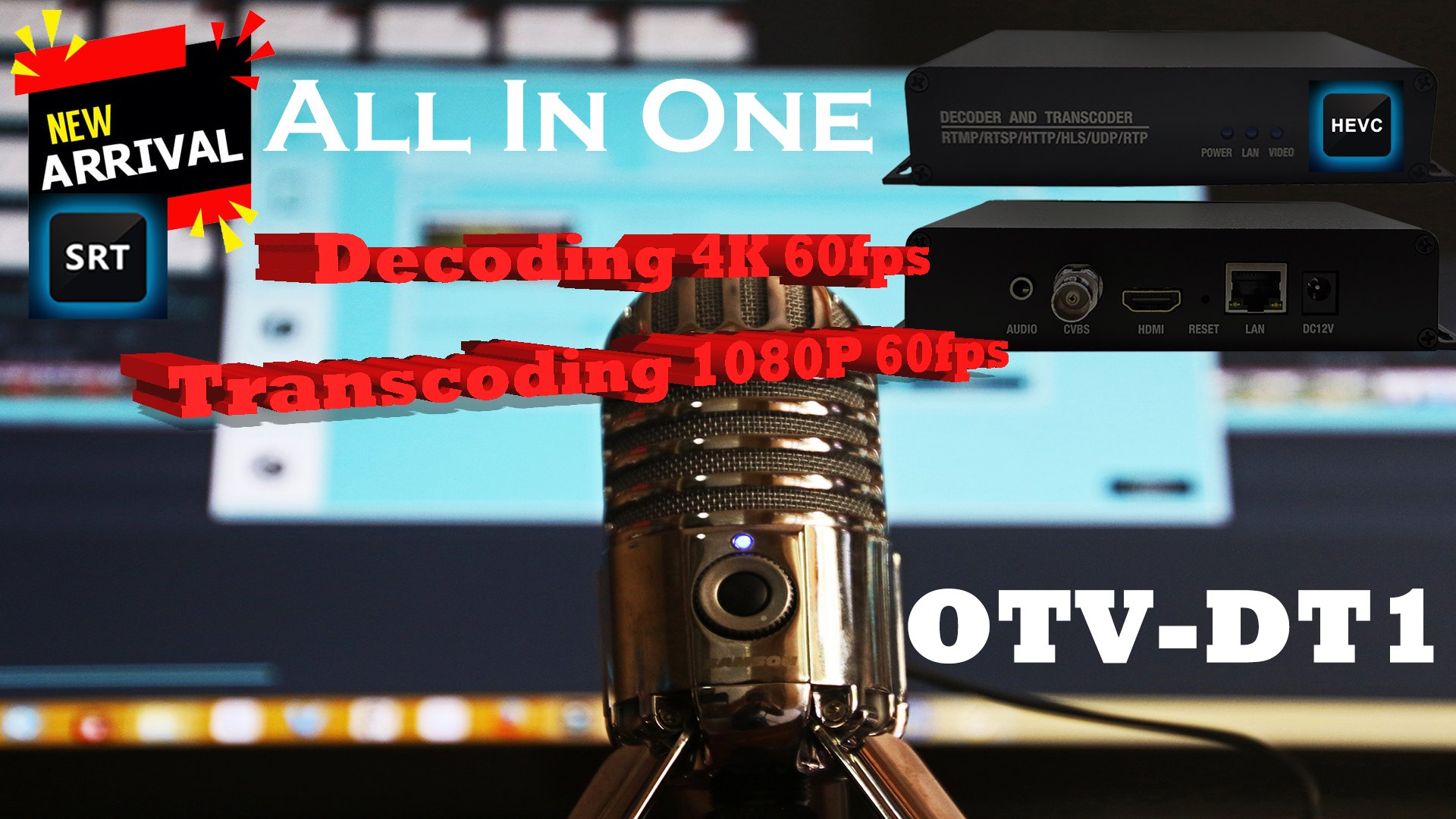 OTV-UT1 ProVideo Streaming Decoder and Transcoder