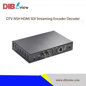 Dibview OTV-NSH NDI HX H.265 H.264 HDMI SDI Streaming Encoder Decoder With USB Video Recording